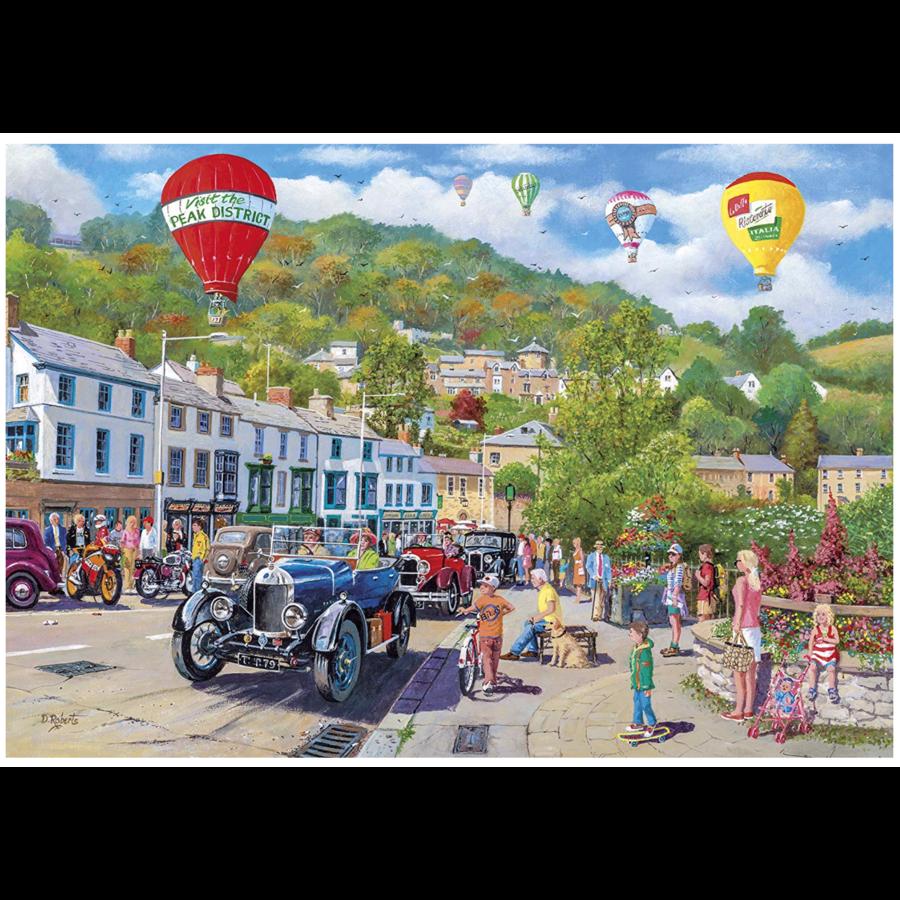 Oldtimers in Matlock Bath - puzzel van 1000 stukjes-2