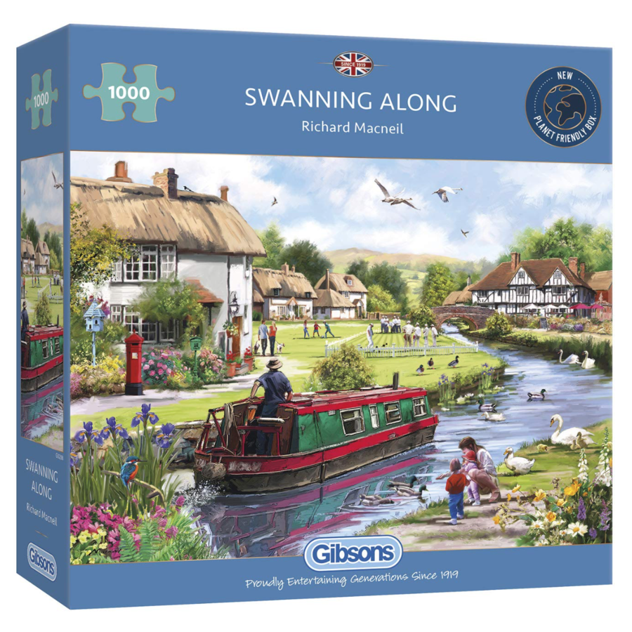 Swanning Along - puzzel van 1000 stukjes-1