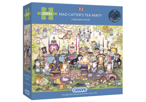 Mad Catter's Tea Party - puzzle 250 XL pieces