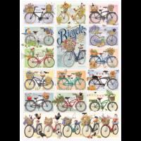 thumb-Des Bicyclettes Colorées - puzzle de 1000 pièces-1