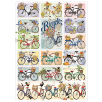 thumb-Kleurrijke fietsen - puzzel van 1000 stukjes-1
