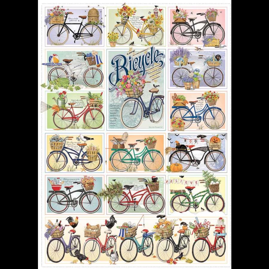 Kleurrijke fietsen - puzzel van 1000 stukjes-1