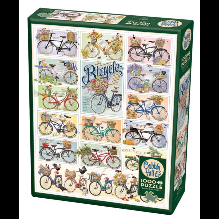 Kleurrijke fietsen - puzzel van 1000 stukjes-2