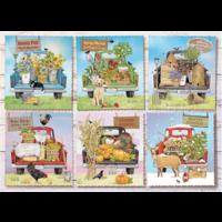thumb-Camions de marché des agriculteurs - puzzle de 1000 pièces-1