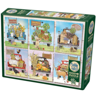 thumb-Camions de marché des agriculteurs - puzzle de 1000 pièces-2