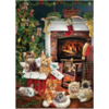 Cobble Hill Christmas kittens - puzzle of 1000 pieces