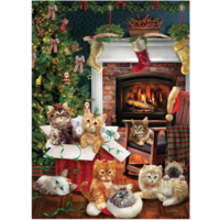 thumb-Christmas kittens - puzzle of 1000 pieces-1