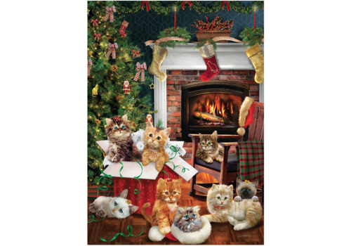 Christmas kittens - 1000 pieces
