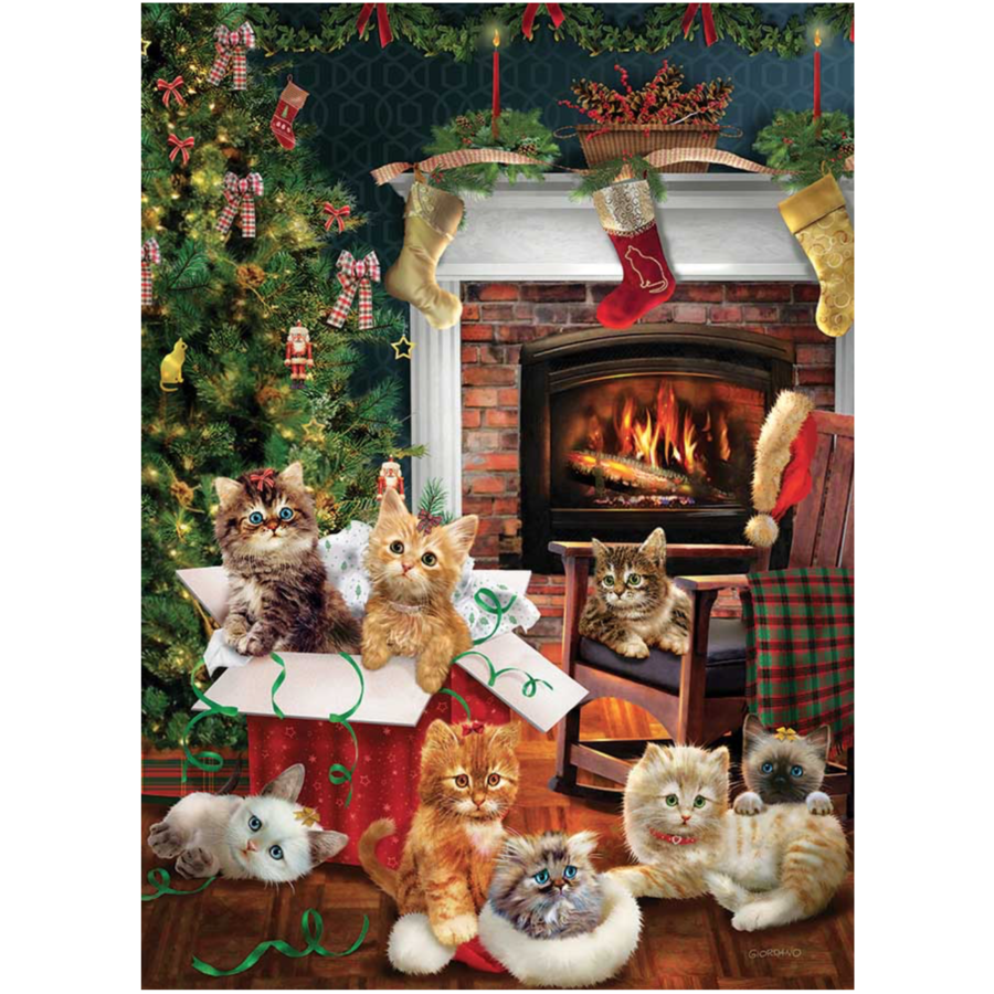 Christmas kittens - puzzle of 1000 pieces-1