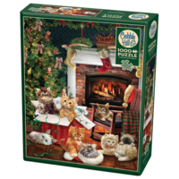 thumb-Christmas kittens - puzzle of 1000 pieces-2