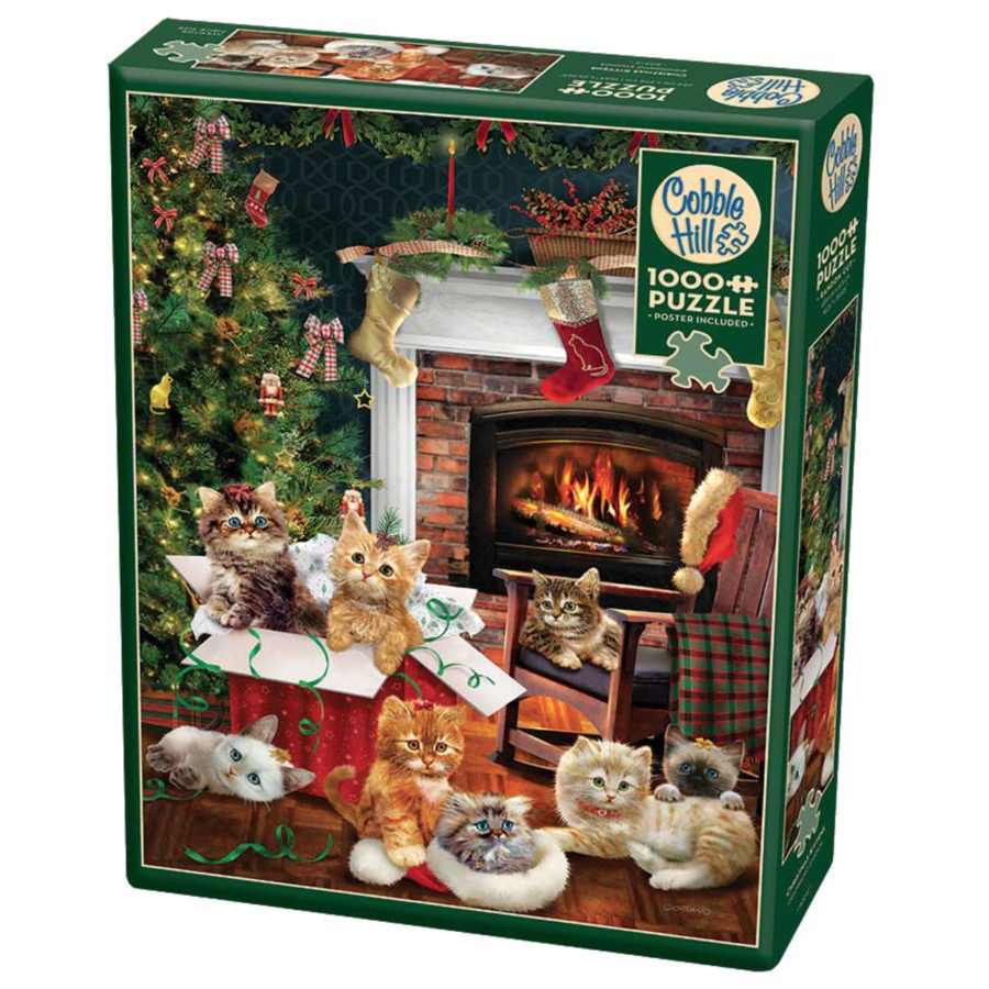 Christmas kittens - puzzle of 1000 pieces-2