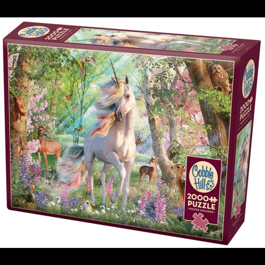 Eenhoorn in het dierenbos- puzzel van  2000 stukjes-2