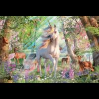 thumb-Eenhoorn in het dierenbos- puzzel van  2000 stukjes-1