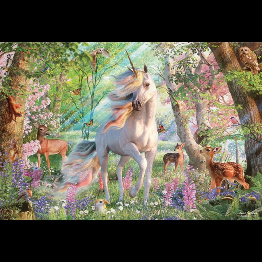 Eenhoorn in het dierenbos- puzzel van  2000 stukjes-1