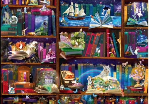 Bluebird Puzzle Bibliotheek avonturen - 1000 stukjes