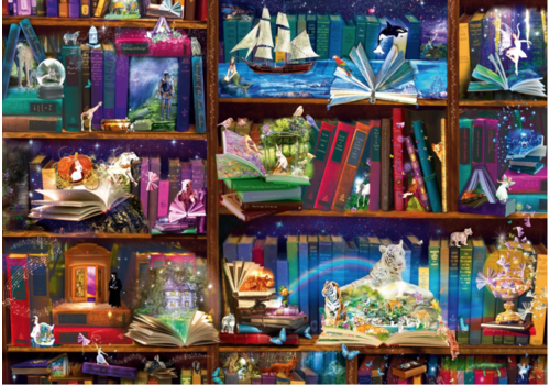Bluebird Puzzle Library Adventures in Reading - 1000 pieces