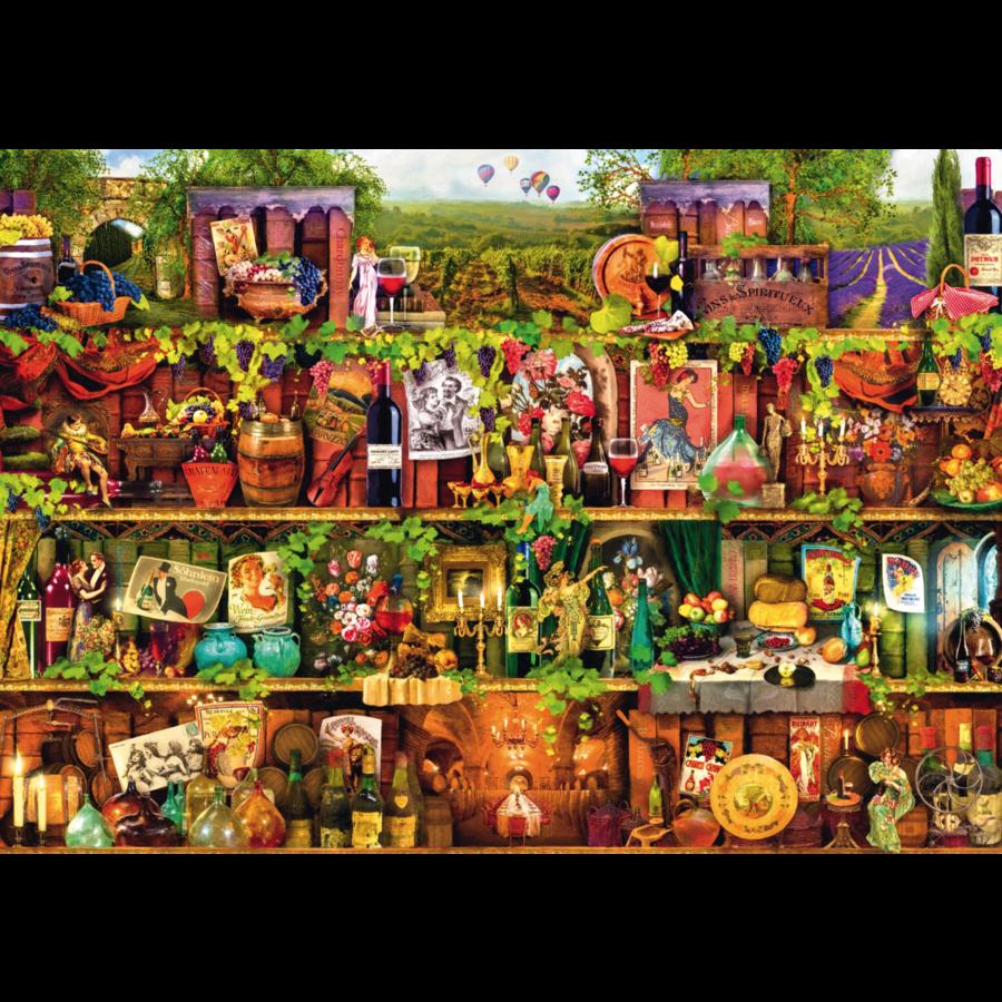 Wine Shelf - puzzle of 1000 pieces-1