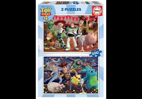 Educa Toy Story 4 - 2 x 100 stukjes
