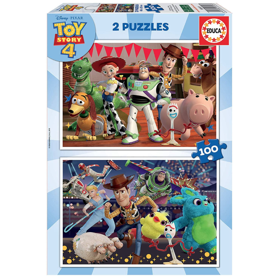 Toy Story 4  - 2 puzzles of 100 pieces-1