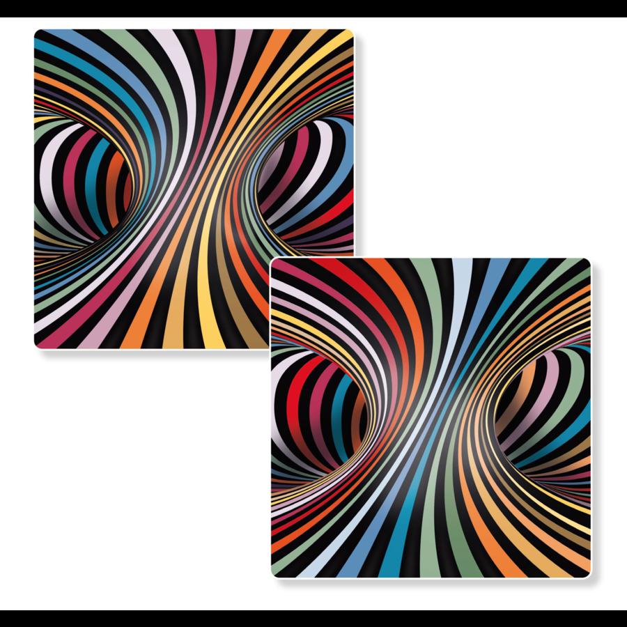 Puzzel Double Candy - Dubbelzijdige puzzel in Hout - 123 stukjes-2