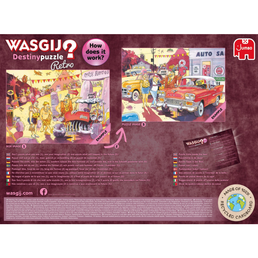 Wasgij Destiny  Retro 4 - The Wasgij Games! - 1000 stukjes-4