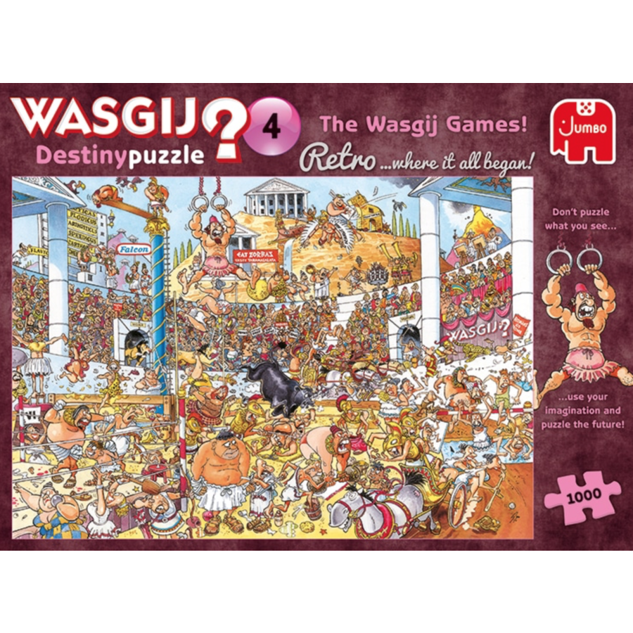 PRE-ORDER - Wasgij Destiny  Retro 4 - The Wasgij Games! - 1000 stukjes-3