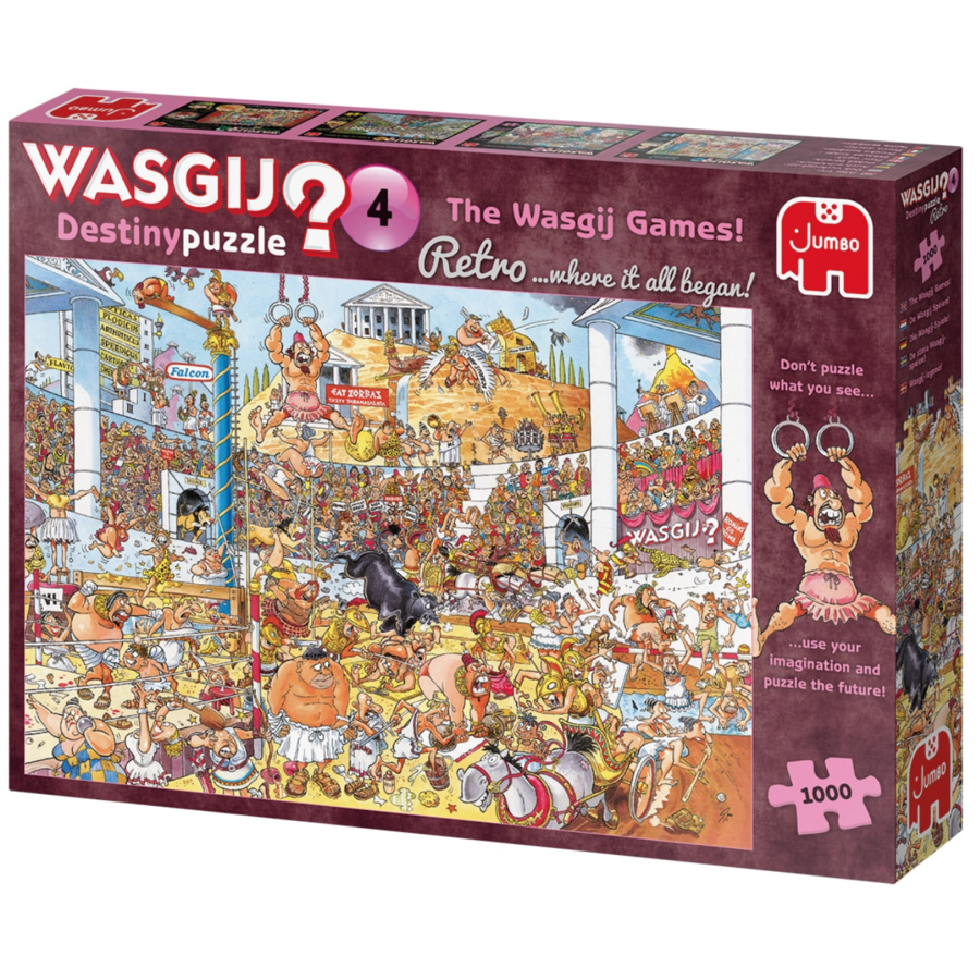 PRE-ORDER - Wasgij Destiny  Retro 4 - The Wasgij Games! - 1000 stukjes-1