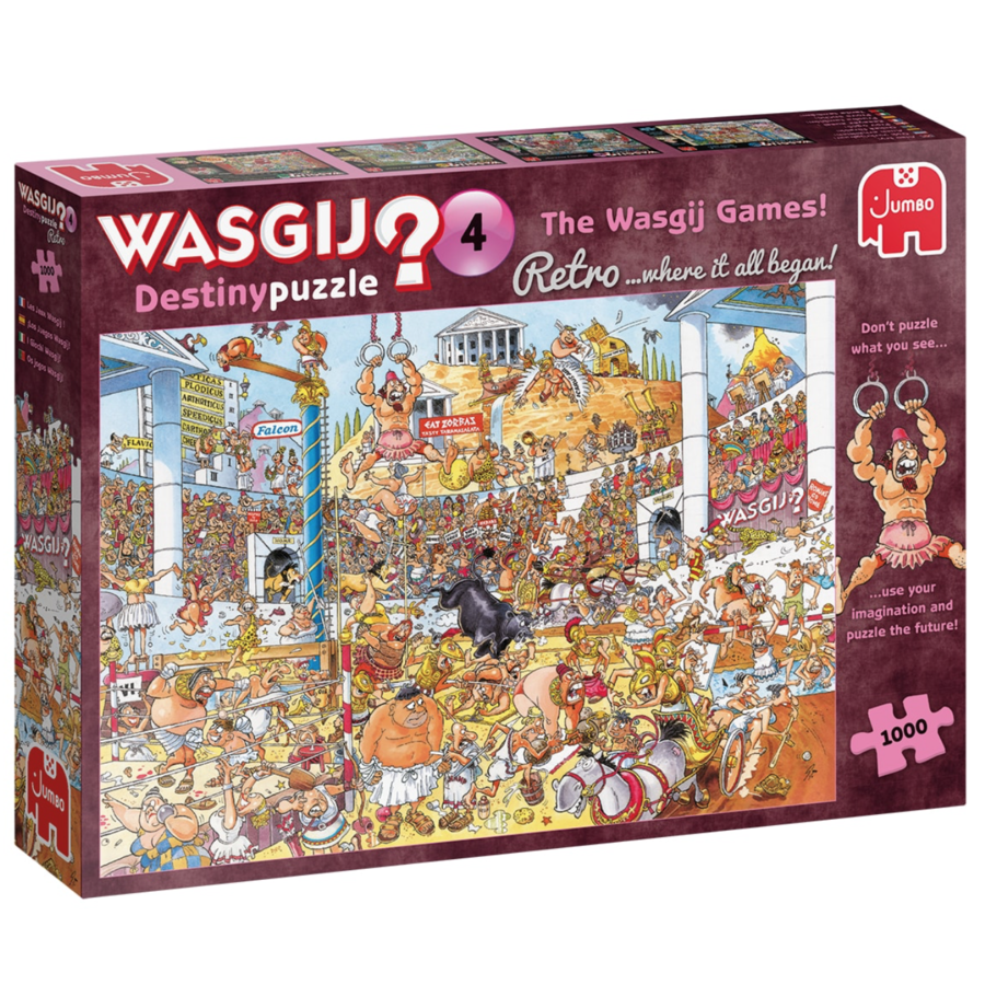 Wasgij Destiny  Retro 4 - The Wasgij Games! - 1000 stukjes-5