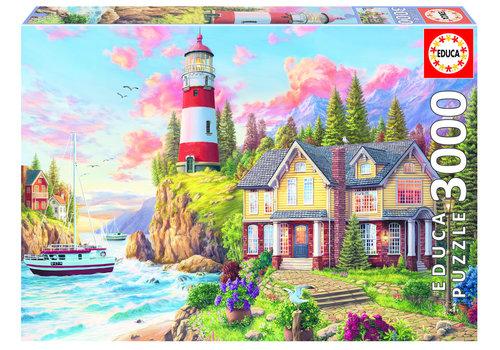 Educa Lighthouse near the ocean - 3000 pieces