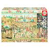 Educa Le jardin des délices - puzzle de 2000 pièces