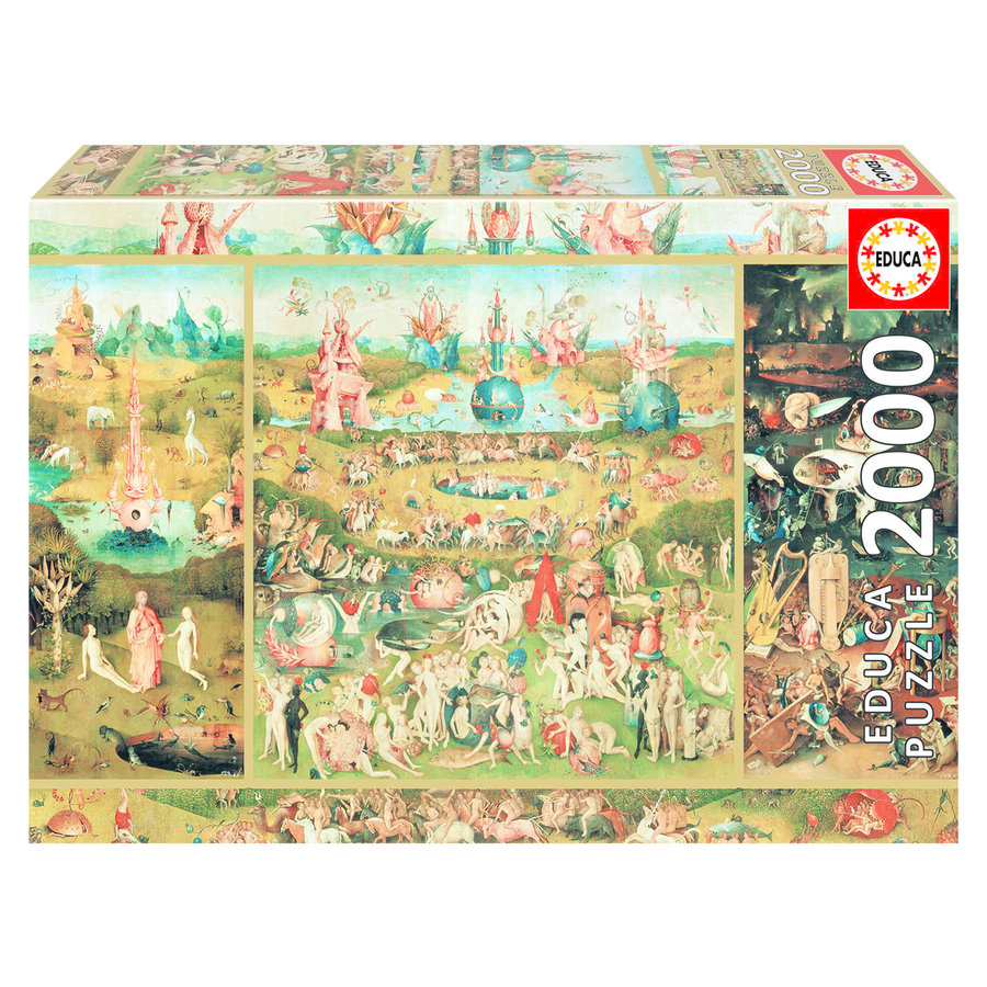 Le jardin des délices - puzzle de 2000 pièces-1