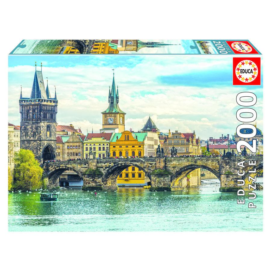 Zicht op Praag - puzzel van 2000 stukjes-1