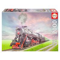 thumb-Locomotive à vapeur - puzzle de 2000 pièces-1