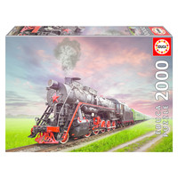 thumb-Steam Train - jigsaw puzzle of 2000 pieces-1