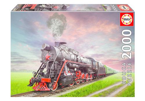 Locomotive à vapeur - 2000 pièces