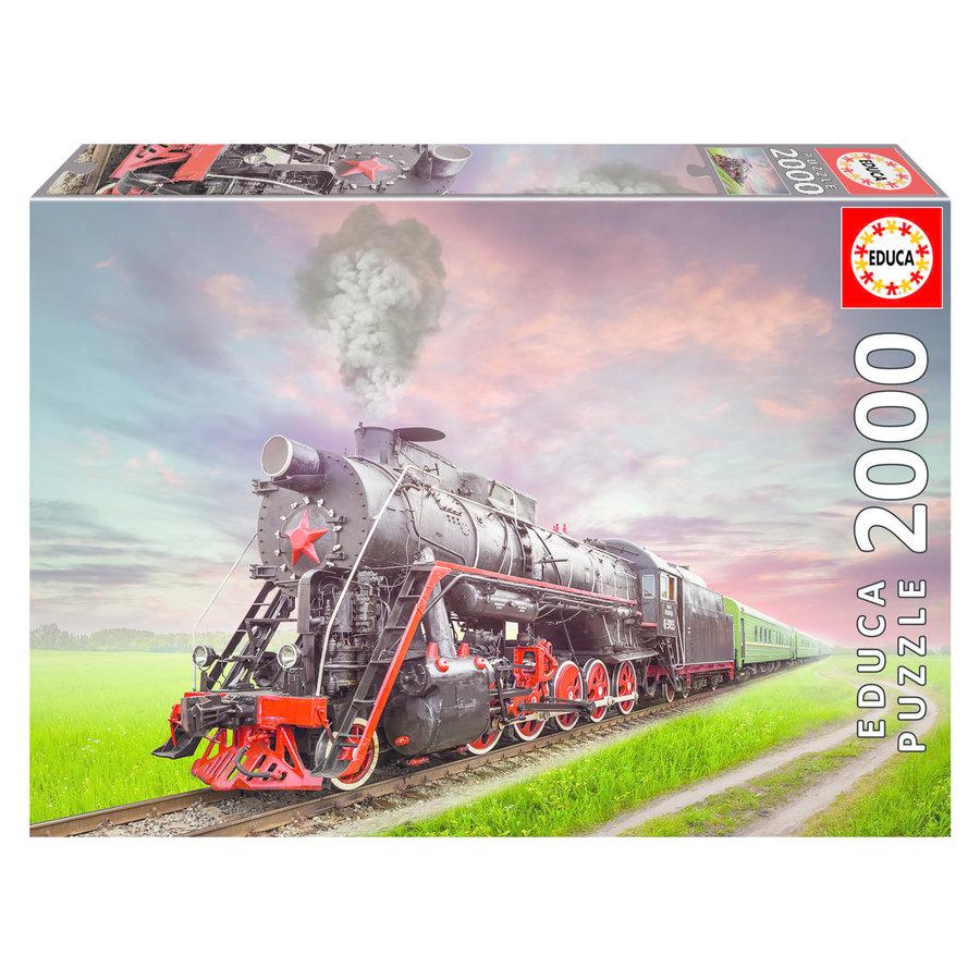 Locomotive à vapeur - puzzle de 2000 pièces-1