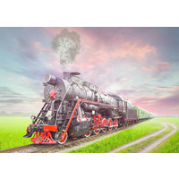 thumb-Steam Train - jigsaw puzzle of 2000 pieces-2