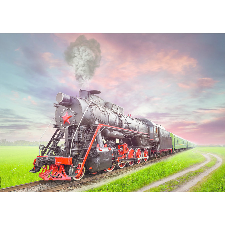 Steam Train - jigsaw puzzle of 2000 pieces-2