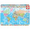Educa Carte du monde politique - puzzle de 1500 pièces