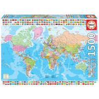 thumb-Carte du monde politique - puzzle de 1500 pièces-1