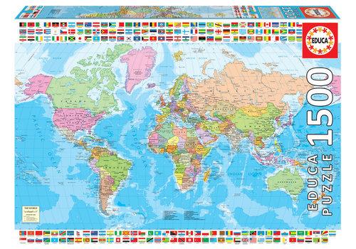 Educa Politieke wereldkaart - 1500 stukjes