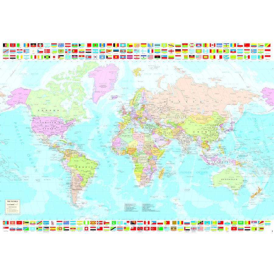 Carte du monde politique - puzzle de 1500 pièces-2