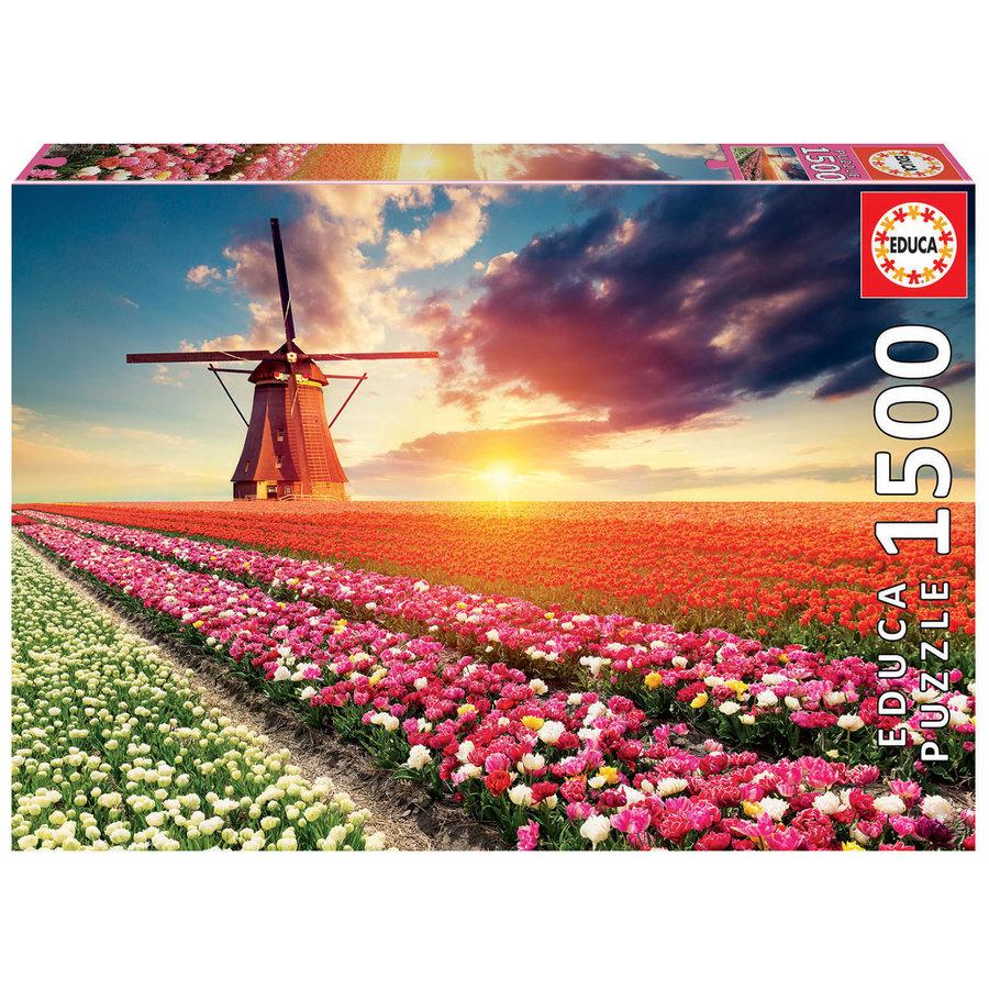 Tulpenlandschap- legpuzzel van 1500 stukjes-1