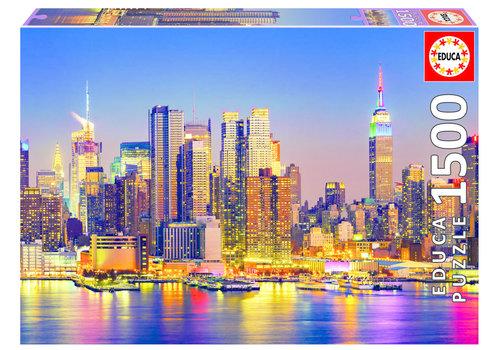 Educa Manhattan bij nacht - 1500 stukjes