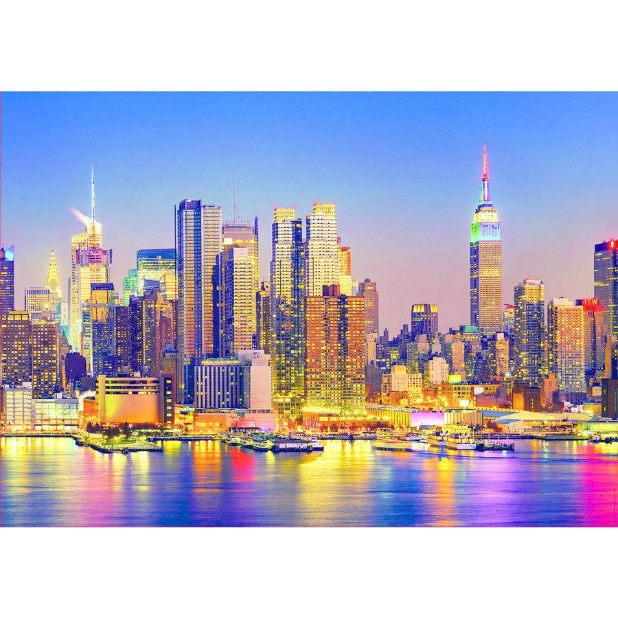 Manhattan bij nacht - legpuzzel van 1500 stukjes-2