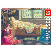 thumb-Slapende schoonheid - John Collier - legpuzzel van 1500 stukjes-1