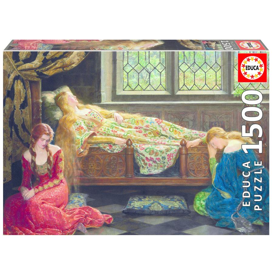 Slapende schoonheid - John Collier - legpuzzel van 1500 stukjes-1