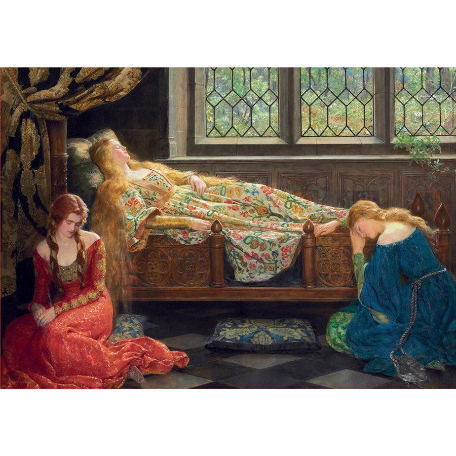 Slapende schoonheid - John Collier - legpuzzel van 1500 stukjes-2