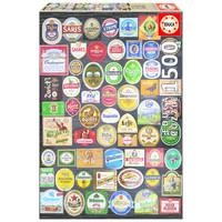 thumb-Bier etiketten collage - legpuzzel van 1500 stukjes-1