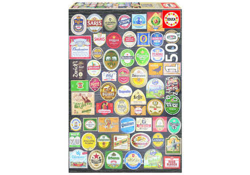 Beer labels collage - 1500 pieces